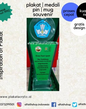Plakat Akrilik Kepala Dinas Pendidikan Provinsi DKI Jakarta
