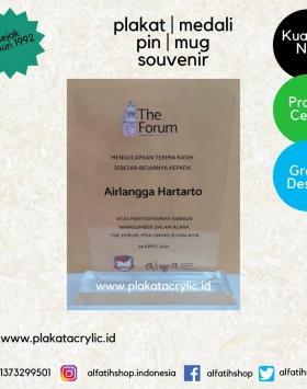 Plakat Akrilik Menteri Koordinator Perekonomian RI